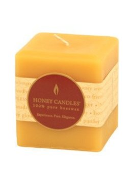 Honey Candles 100% Beeswax Square Pillar