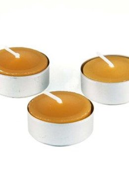 Honey Candles 100% Beeswax Tealight Aluminum Cup - Single