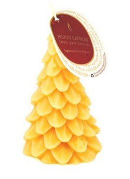 Honey Candles 100% Beeswax Yule Tree