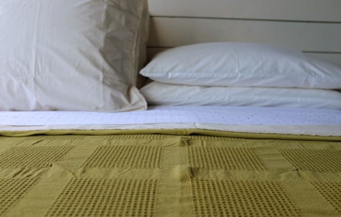 Dreamy Organic Bed of the Week: Coyuchi Green and Diamonds