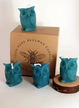 Greentree Home Owl Candles Boxed Set