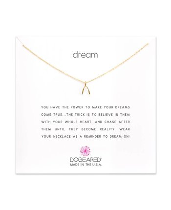 Dogeared Dream Teeny Wishbone Necklace