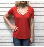 Strappy Front Round Nk Tee