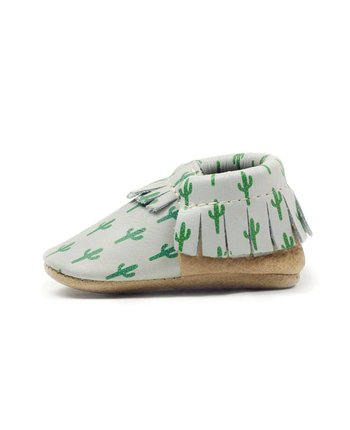 Freshly Picked Soft Sole Moccasin in Cactus Day