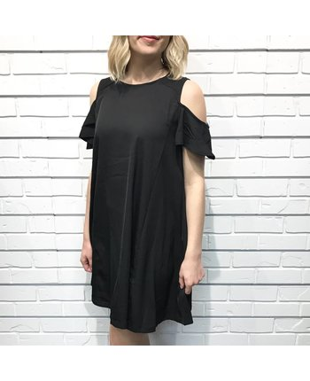 A Line Cut Shoulder Dress