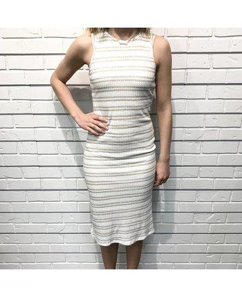 Stripe Waffle Dress