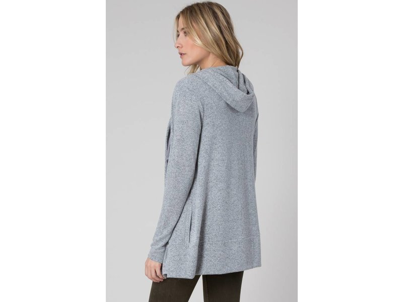 Z Supply The Marled Hoodie Cardigan