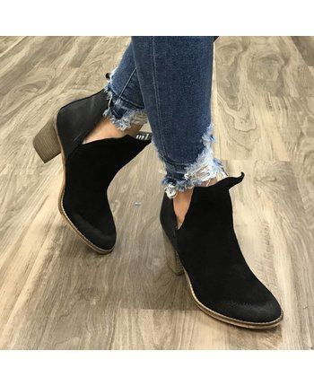 Leather Suede Bootie