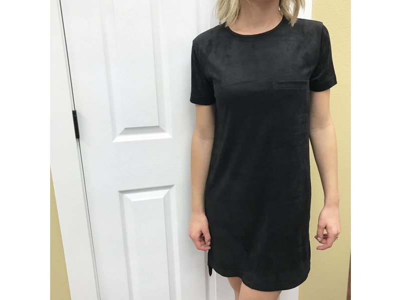 RD Style Suede Shirt Dress