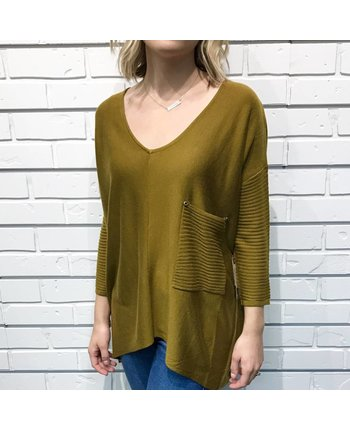 Raven Ribbed Top