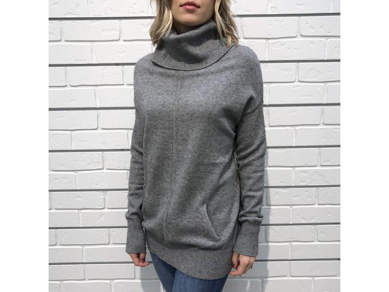 RD Style Turtleneck Tunic Sweater