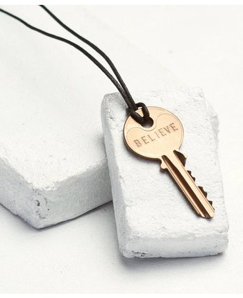The Giving Keys Bronze Key Cord Necklace