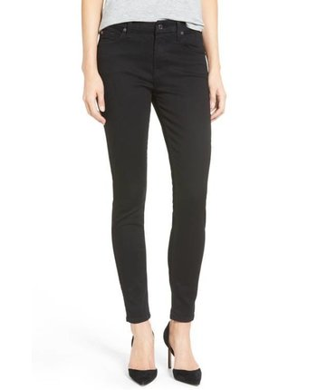 7 For All Mankind The Ankle Skinny (B)Air Solid Black