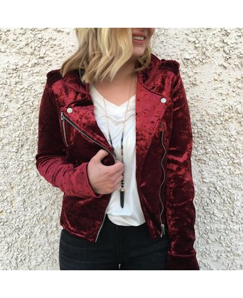 Blank NYC Velvet Moto Jacket [more colors...]