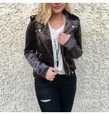 Blank NYC Velvet Moto Jacket