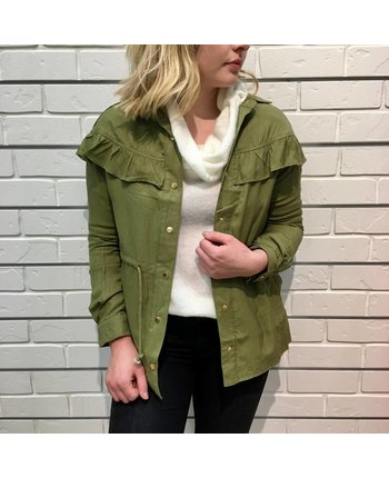 Ruffle Detail Jacket