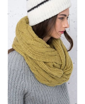 Wooden Ships Aran Cable Eternity Scarf [more colors...]