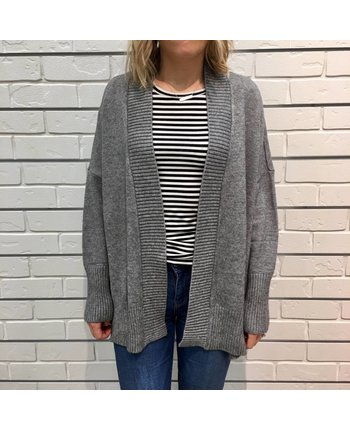 RD Style Ribbed Side Slit Cardigan