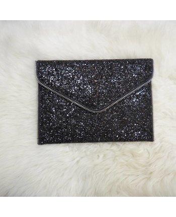 Black Glitter Clutch