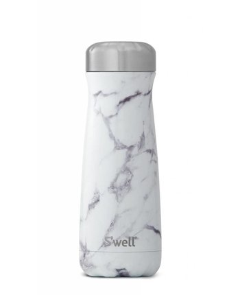 S'well 20oz Traveler White Marble