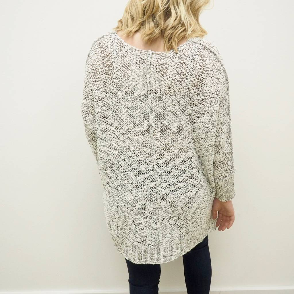 V Neck Tunic Sweater - Out of Town