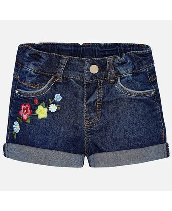 Mayoral 1242 Embroidered Shorts