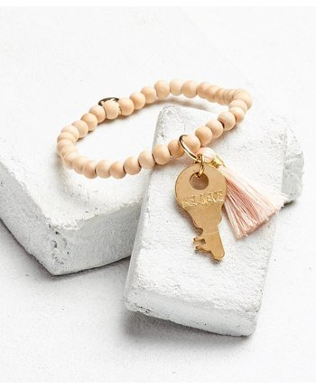 The Giving Keys Inspiration Bead Key Bracelet w/Tassel [more colors...]