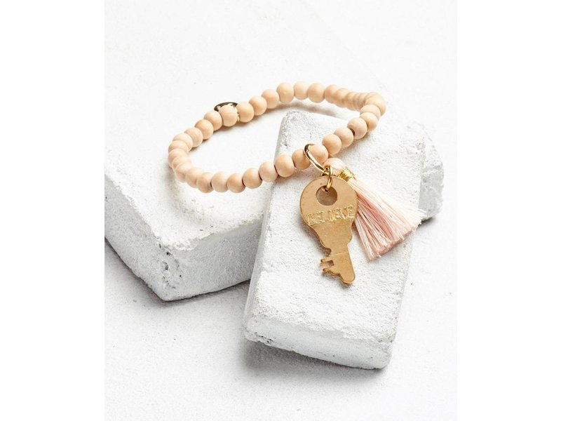 The Giving Keys Inspiration Bead Key Bracelet W Tel