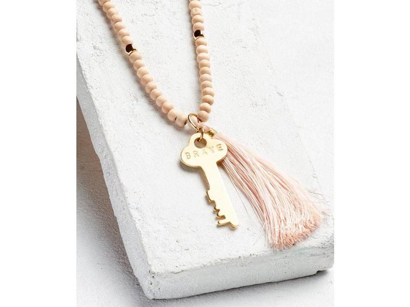 The Giving Keys Inspiration Bead Key Tassel Necklace | Out of Town ...