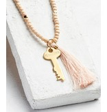 The Giving Keys Inspiration Bead Key Necklace w/Tassel