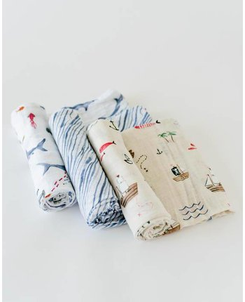 Little Unicorn Muslin Swaddle 3 Pack [more colors...]