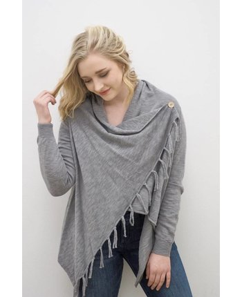 Dylan Slub Stitch Wrap Sweater