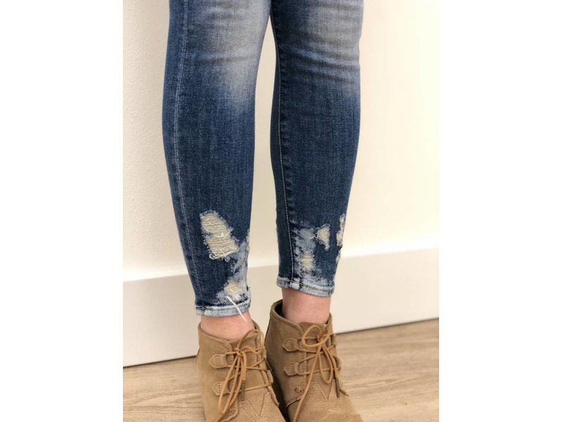 7 For All Mankind The Ankle Skinny w/ Bleach