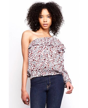 Jack by BBD Varda Printed One Shoulder Top