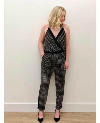 Patterned Tank Jumpsuit