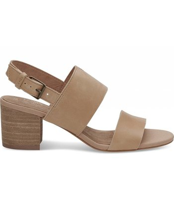 TOMS Honey Leather Poppy Sandal