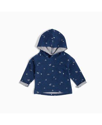 Miles Baby Printed Knit Hoodie