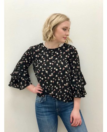 Print Woven Floral Top