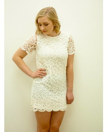 Short Sleeve Crochet Dress