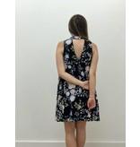 Mock Neck Floral Dress