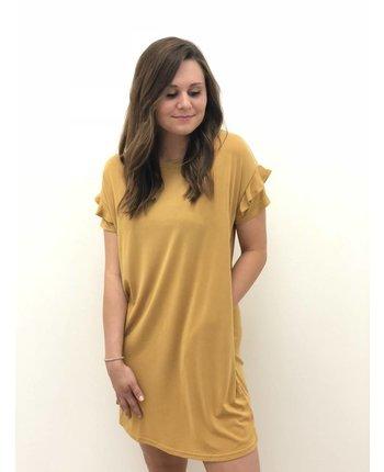 Ruffle Detailed T-Shirt Dress