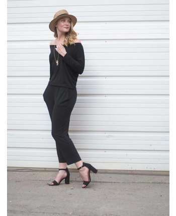 Michael Stars Off Shoulder Sleeved Jumpsuit