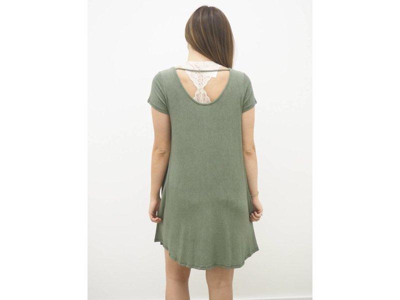 Ribbed Scoop Back Dress