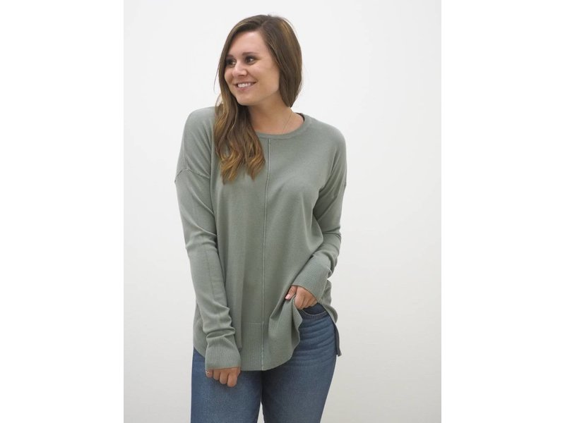 Center Seamed Sweater