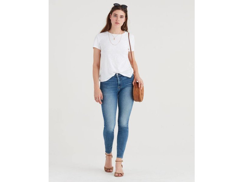 7 For All Mankind The High Waist Ankle Skinny in Muse