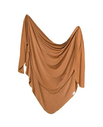 Copper Pearl Camel Knit Blanket