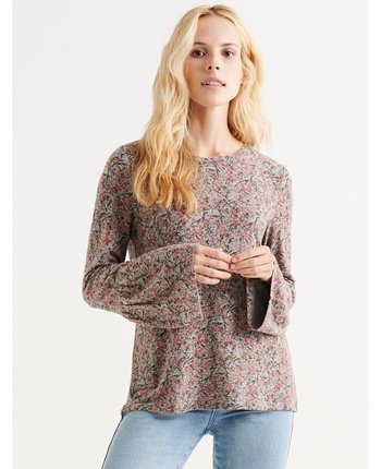 Lucky Brand Hacci Bell Sleeve Top