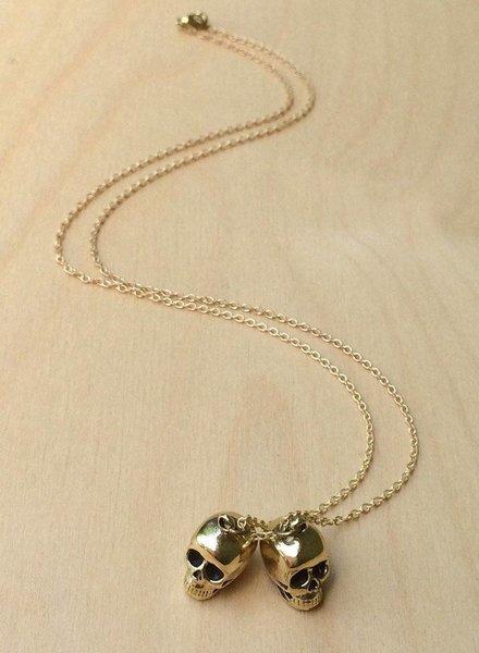 MONSERAT DE LUCA Brass Gemini Necklace