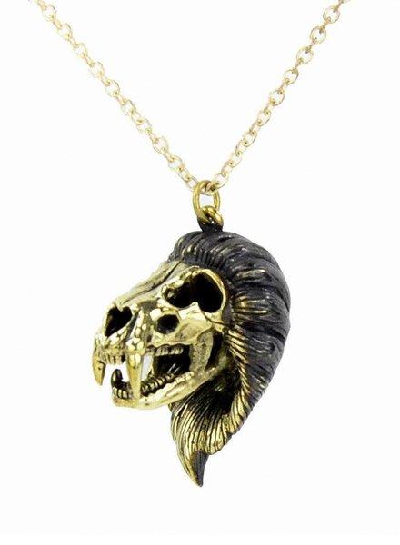 MONSERAT DE LUCA Brass Leo Necklace