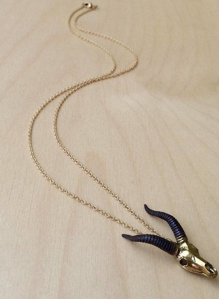 MONSERAT DE LUCA Brass Capricorn Necklace